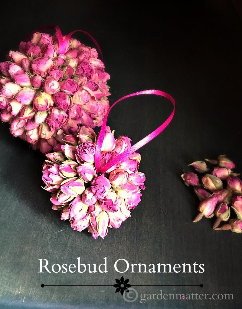 DIY Handmade Rosebud Ornaments