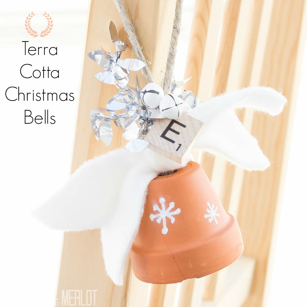 DIY Terra Cotta Christmas Bells