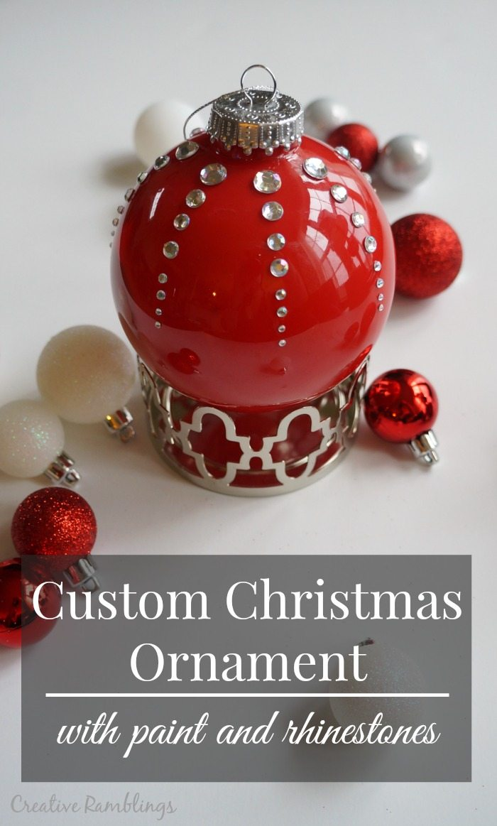 DIY Red Rhinestone Christmas Ornament