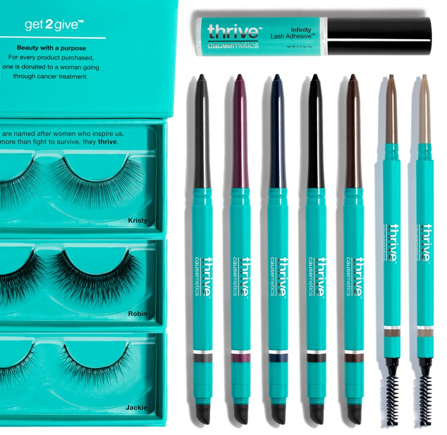 5 Infinity Waterproof Eyeliners™, 2 shades of the browliners, 3 different faux lash styles, and a tube of their best-selling Infinity Lash Adhesive - Thrive Santa Gift Set