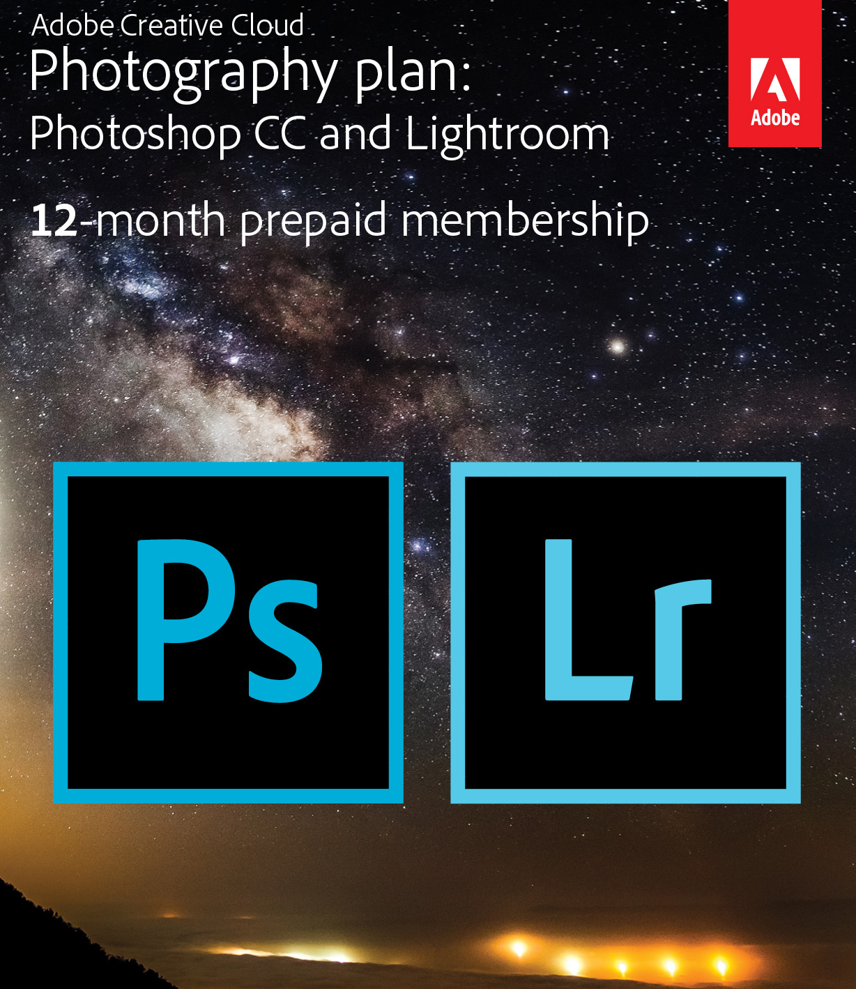Adobe Creative Cloud Subscription - Lightroom & Photoshop for one year - just $119 ad