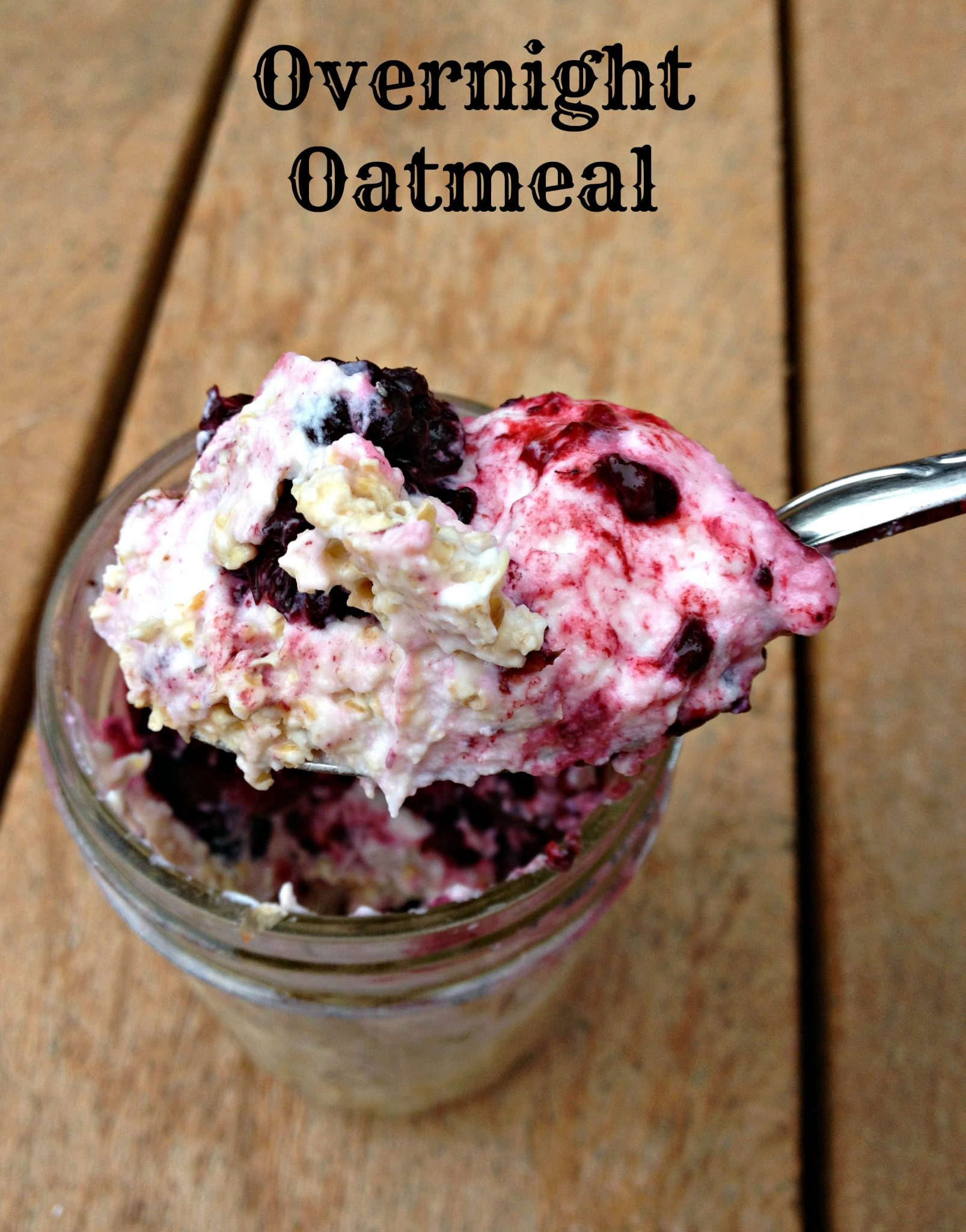Berry No Cook Overnight Oatmeal