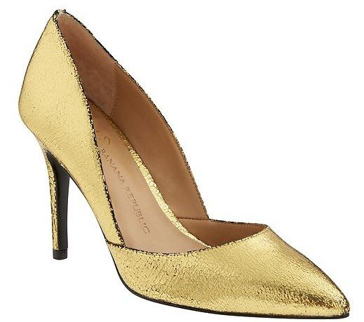 """Banana Republic Damsel D'Orsay Pumps - Dark Gold $128 (use code BRHOLIDAY for 50% off!) 100% Leather, breathable synthetic lining, exclusive padding system with memory foam, flexible synthetic outsole and 3-3/4"""" heel."""