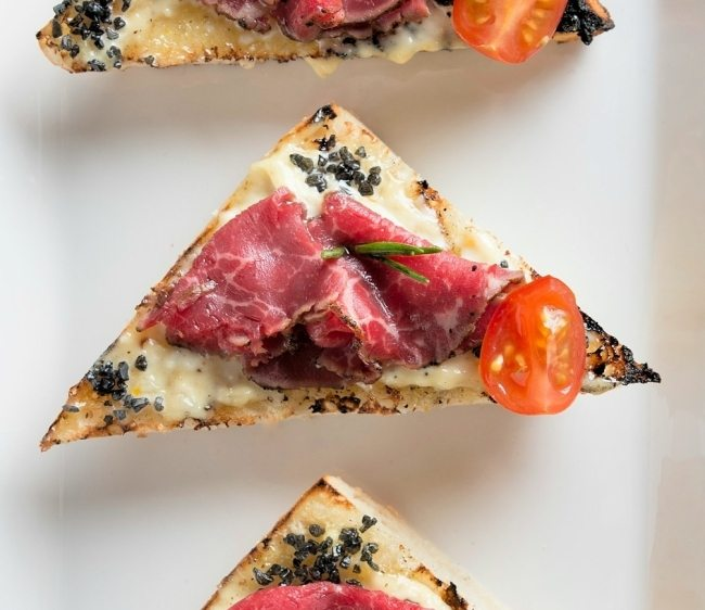 Super Bowl Appetizer Recipe: Beef Carpaccio Crostinis