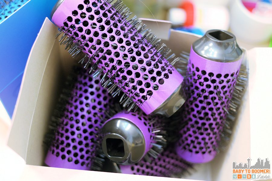 Medium Purple Rollers - Click n Curl - ad