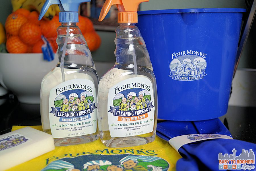 Natural House Cleaning For the Holidays with Four Monks Cleaning Vinegar #FourMonksClean ad