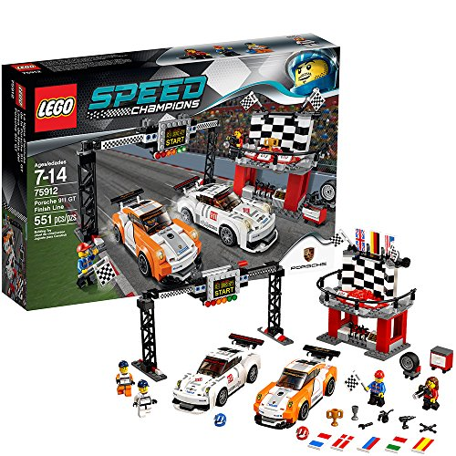 LEGO Speed Champions Sets - Ages 7-14 - Porsche 911 GT Finish Line