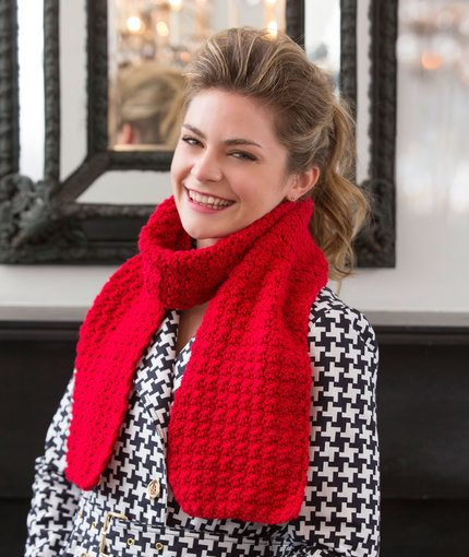 Berry Stitch Free Scarf Crochet Pattern