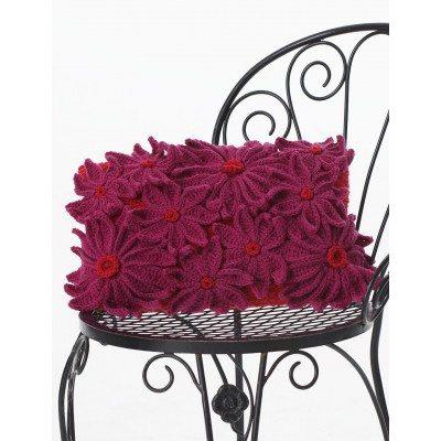 Daisy Crochet Pillow Free Pattern