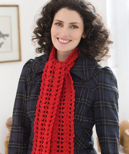Heart Crochet Scarf Free Pattern