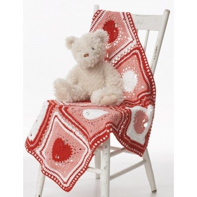 Heart Dishcloth Blanket Free Crochet Pattern