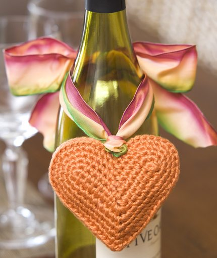 Heart Gift Tag Free Crochet Pattern