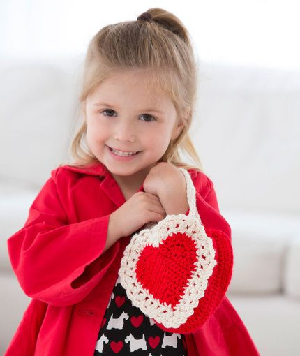 Heart Girls Bag Free Crochet Pattern