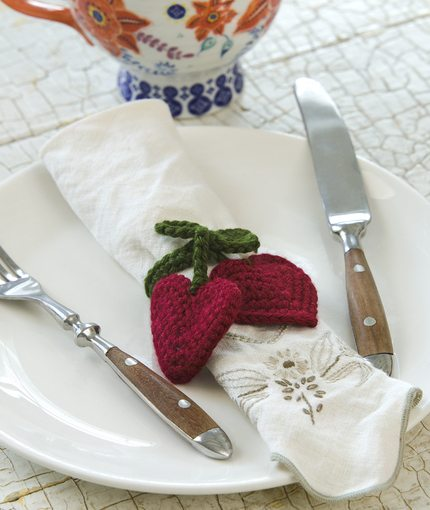 Heart Napkin Rings Free Crochet Pattern