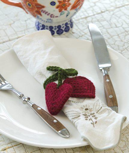 Heart Napkin Rings Free Crochet Pattern