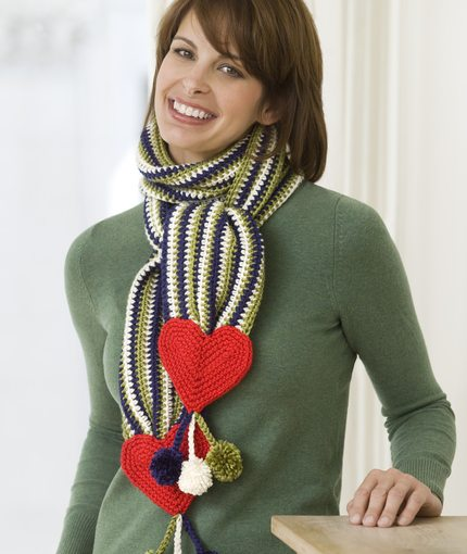Heart Scarf Free Crochet Pattern