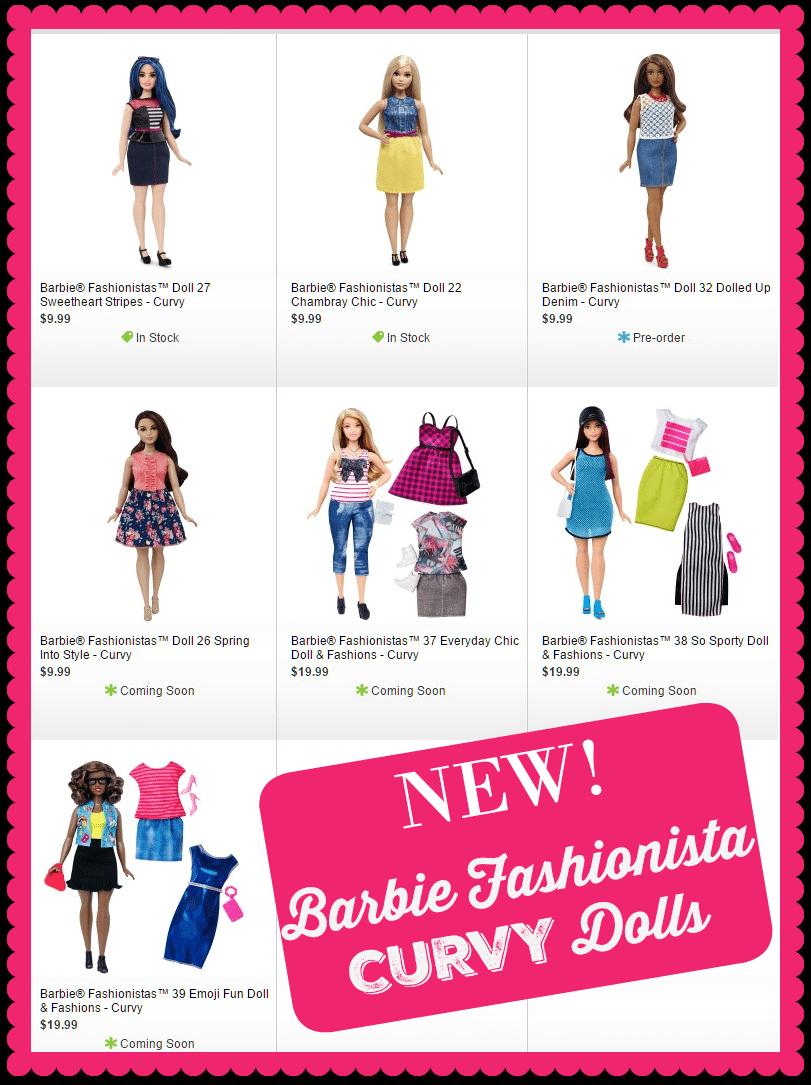 New Barbie Curvy Dolls