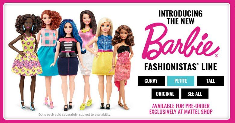 New Barbie Fashionistas Dolls Curvy Tall Petite