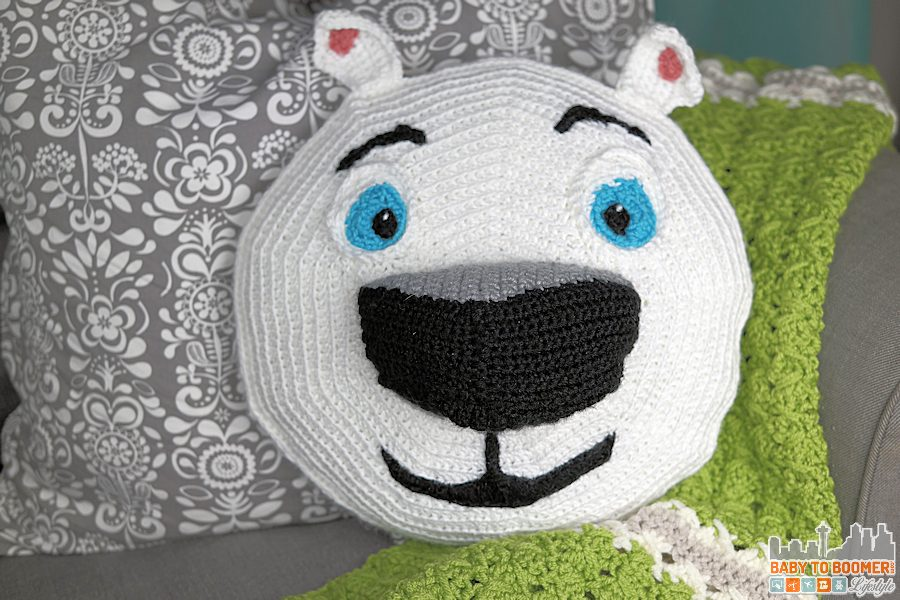 Norm of the North Crochet Pattern Finished - Meet Norm of the North and Free Crochet Pattern #NormOfTheNorth #Sweepstakes ad