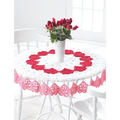 Round Heart Tablecloth Crochet Pattern Free