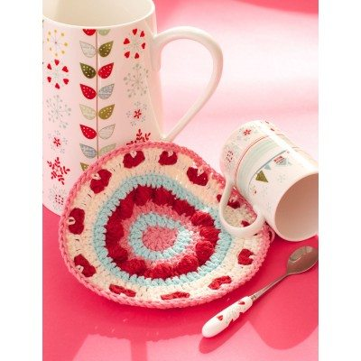 Round Valentine Hot Pad Free Crochet Pattern