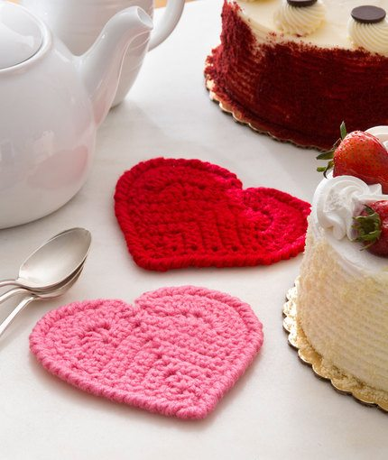 Free Crochet Pattern Heart Coaster : Crochet Hearts: Free Patterns for Valentines Day