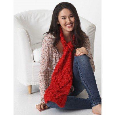 Valentine Heart Scarf Free Crochet Pattern