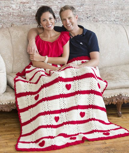 Valentine Heart Throw Free Crochet Pattern