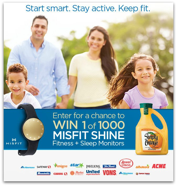 Win a Misfit Shine - Tips to Start Smart, Stay Active, and Keep Fit #StartSmart2016 @Safeway @odwalla #ad