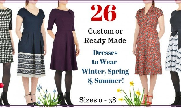 26 Dresses: Winter to Spring Styles for Standard and Plus Sizes