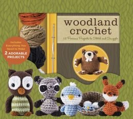 Woodland Crochet Kit by Kristen Rask - Supplies to make two of the projects plus patterns for a beaver, owl, racoon, fox, bird, bird nest, and bird eggs, plus more.
