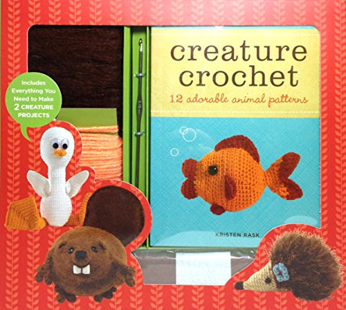 Creature Crochet - 12 animal patterns including a hedgehog, duck, beaver, fish, and more plus everything you need to create two of them.