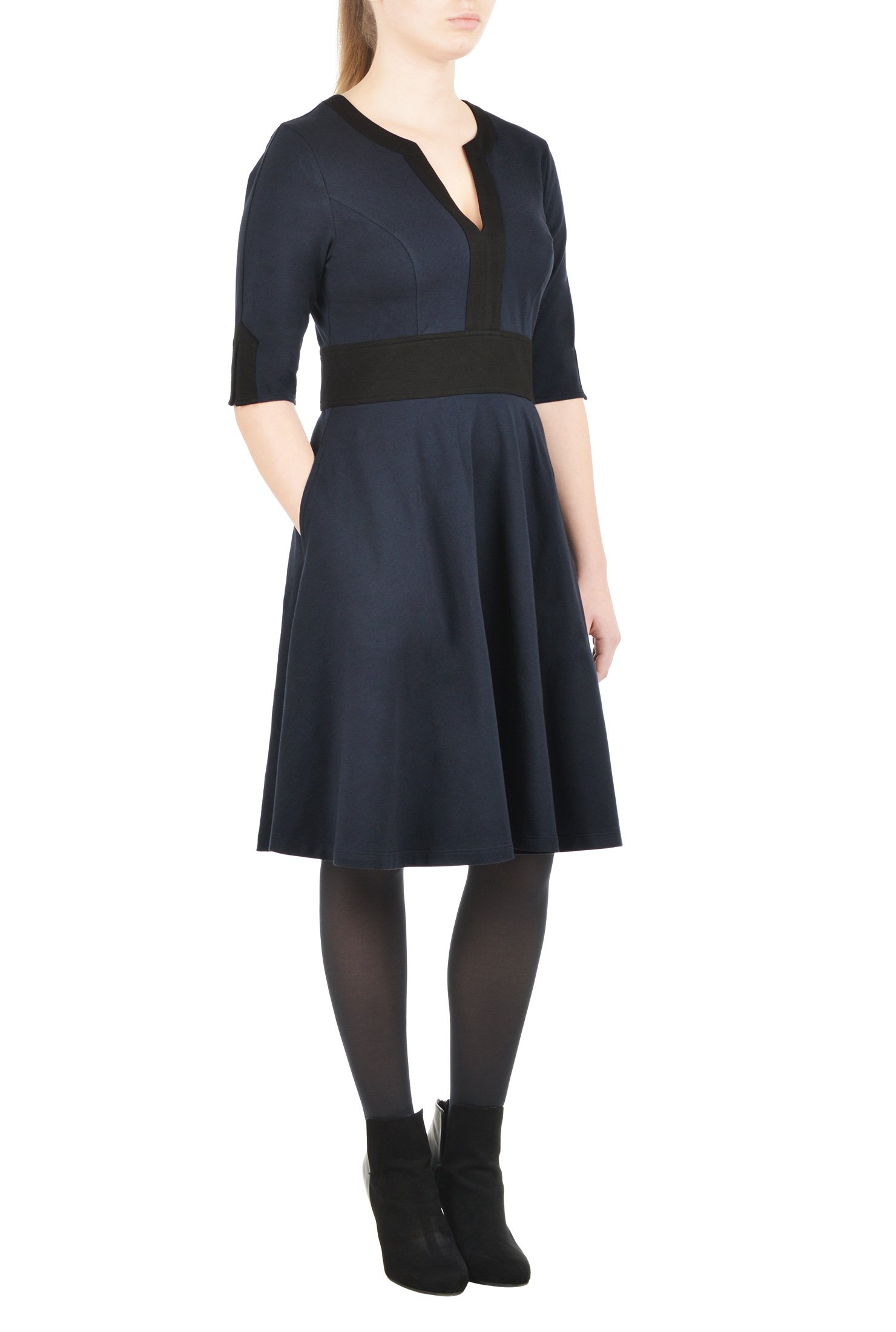 Made-to-order dress in sizes women's sizes 0 - 36 (standard and plus size) or to your precise measurements and they're adjusted to your height so your dress length is always perfect.