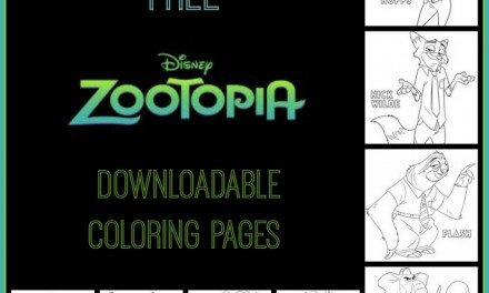 Disney ZOOTOPIA: Free Activity Page and Coloring Sheets