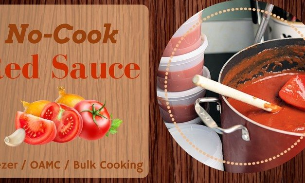 Pasta Sauce:  No-Cook Freezer Cooking Recipe – Makes 38 Cups!