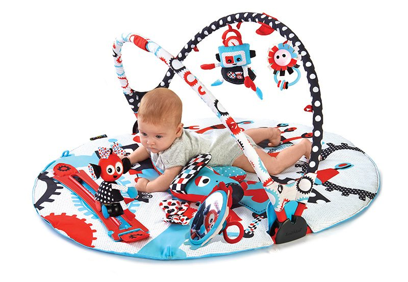 Baby Products Expert Kathleen Tomes Shares the Five Best Baby Playmats - Yookidoo Gymotion® Robo Playland -
