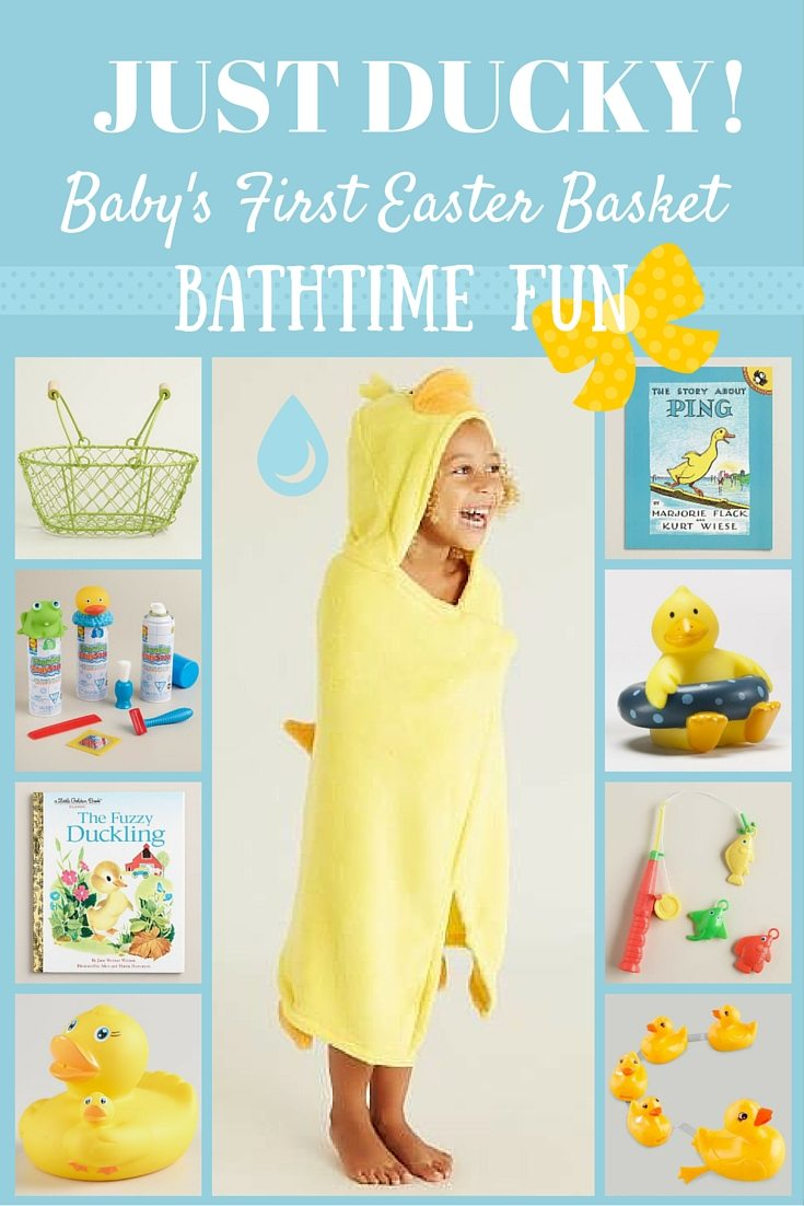 Baby's 1st Easter Basket Ducky Bathtime Fun - Baby's First Easter Basket: Three Three Fun Themes Your Child Will Love #BeaBetterBunny ad