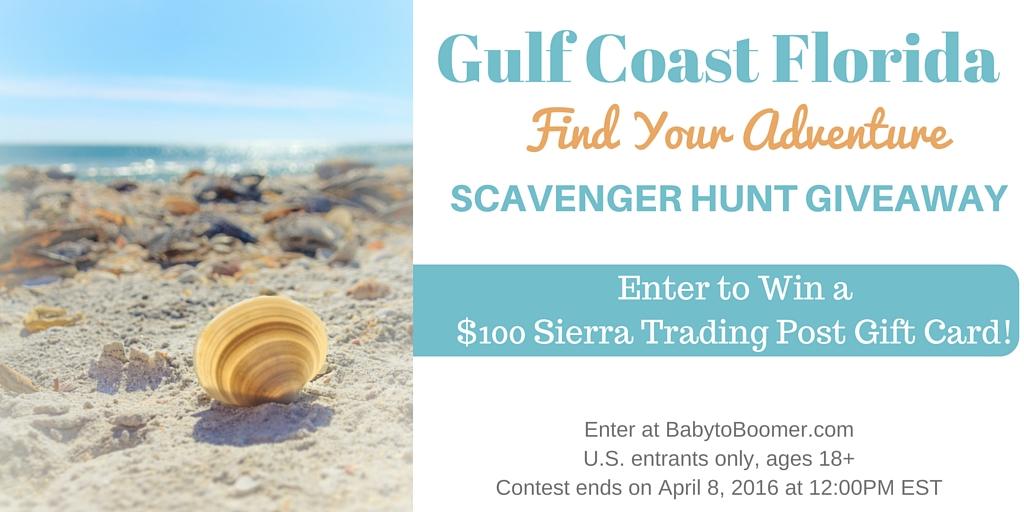 Gulf Coast Florida Scavenger Hunt Giveaway ad