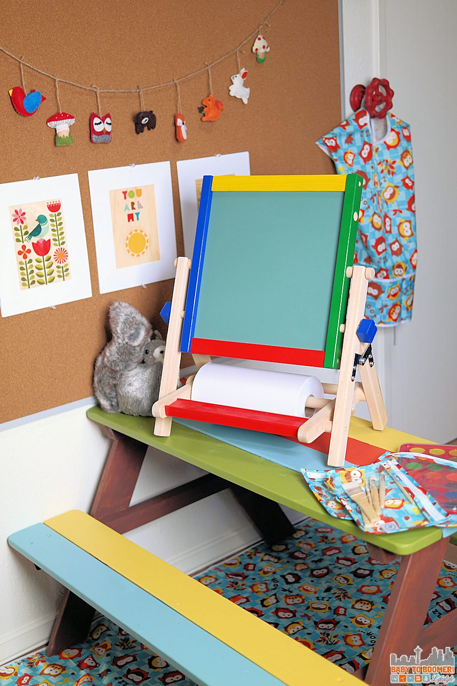 Kids Room Ideas: Creating a Place for Art in the Playroom