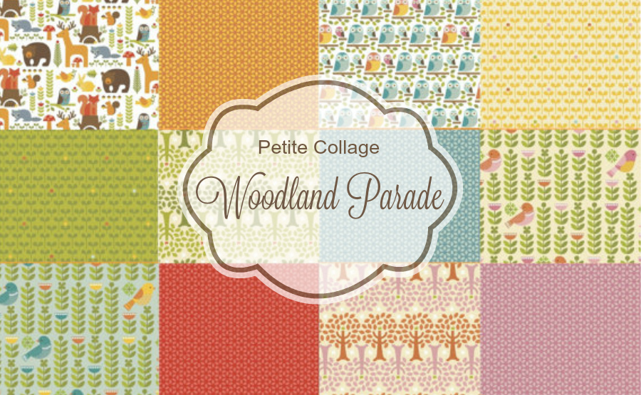 Petite Collage Woodland Parade Organic Fabric