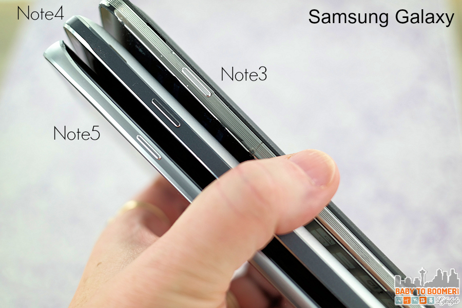 Samsung Galaxy Note5 Note4 Note3 comparison