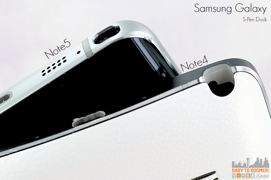Samsung Note5 vs Note4 S-Pen Dock