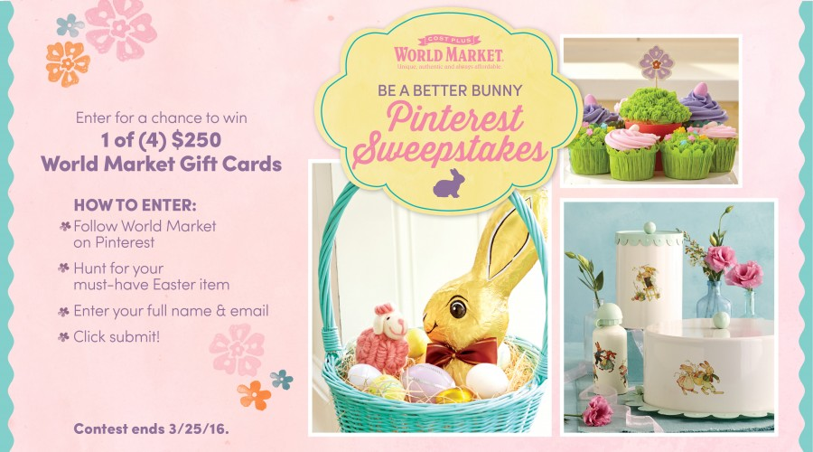 World Market Be A Better Bunny Sweepstakes - Baby's First Easter Basket: Three Three Fun Themes Your Child Will Love #BeaBetterBunny ad