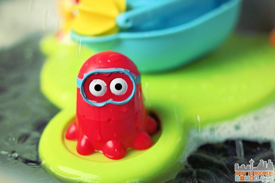 Red Octopus - Bathtime Fun! Yookidoo Stack'N'Spray Tub Fountain ad