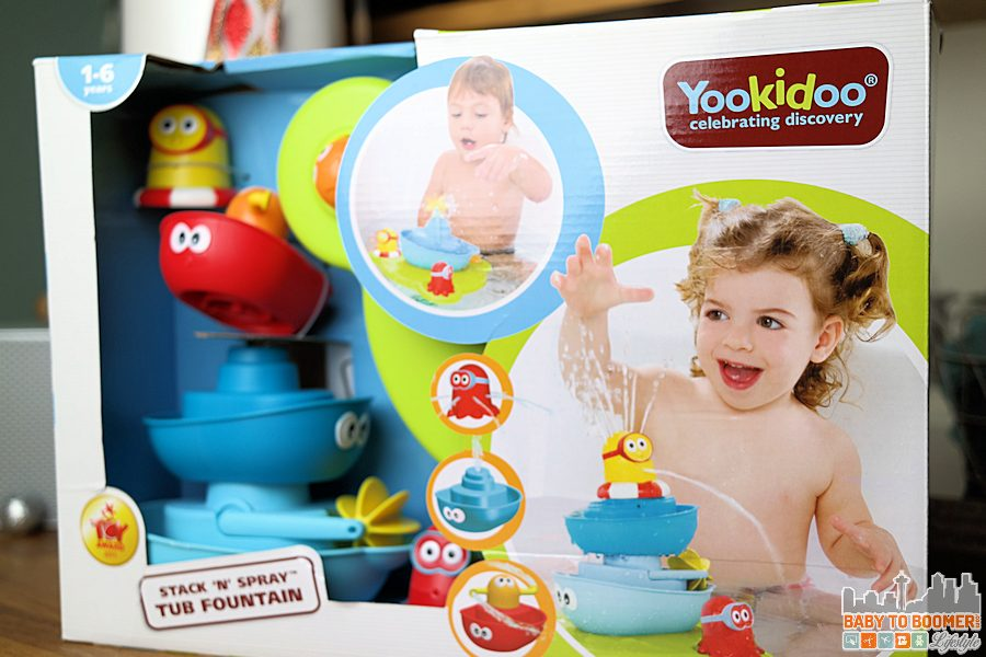 Bathtime Fun! Yookidoo Stack'N'Spray Tub Fountain ad