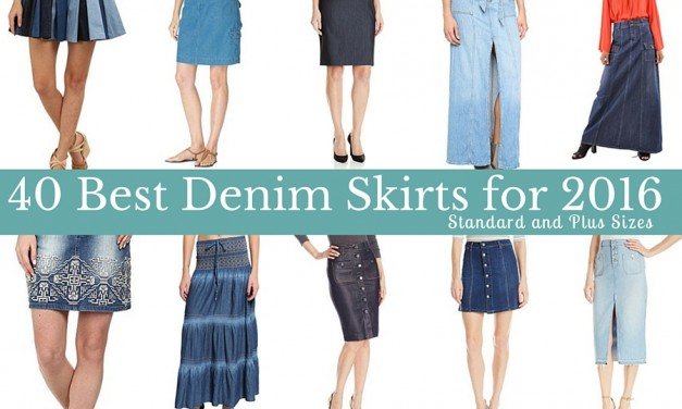 40 Best Denim Skirts for 2016: Standard and Plus Sizes