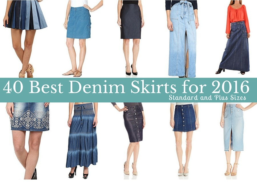 53708aea6f 40 Best Denim Skirts for 2016: Standard and Plus Sizes