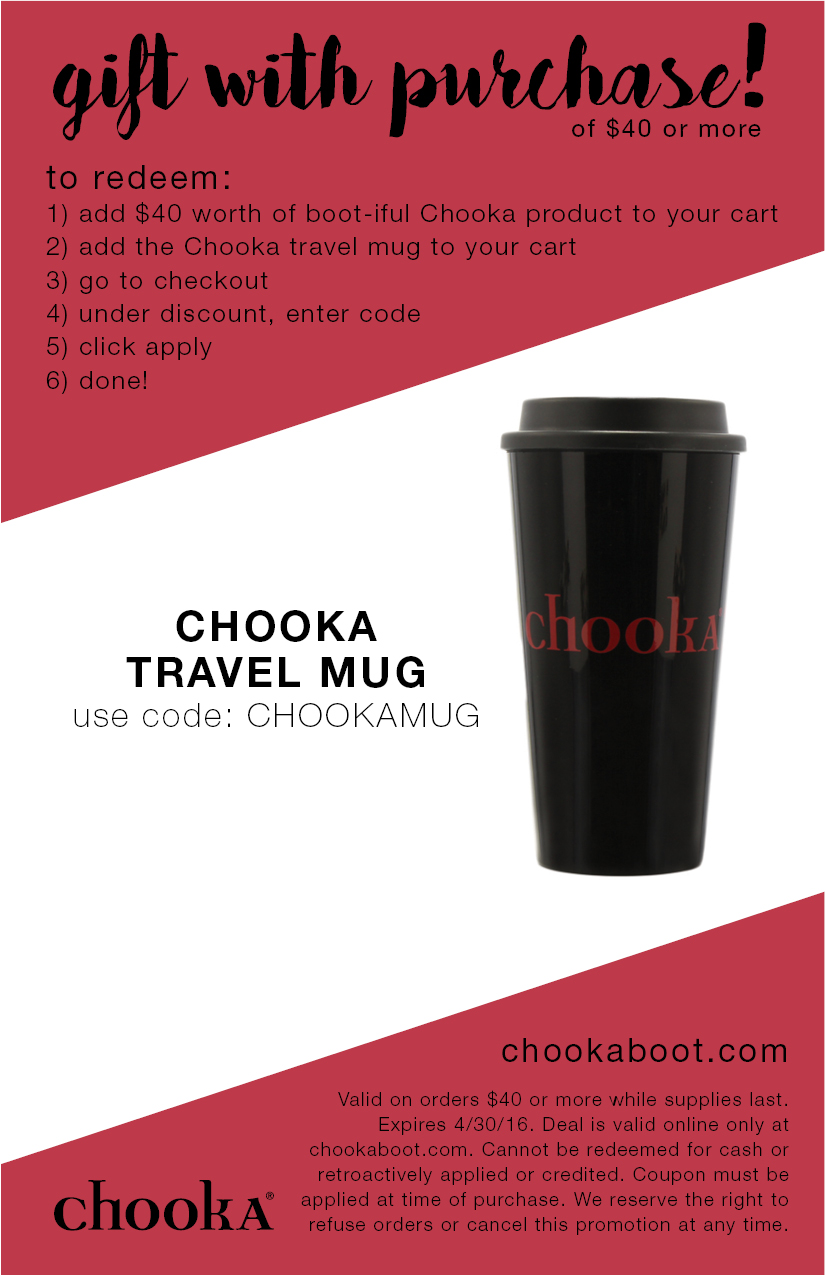 Chooka Gift With Purchase Coupon