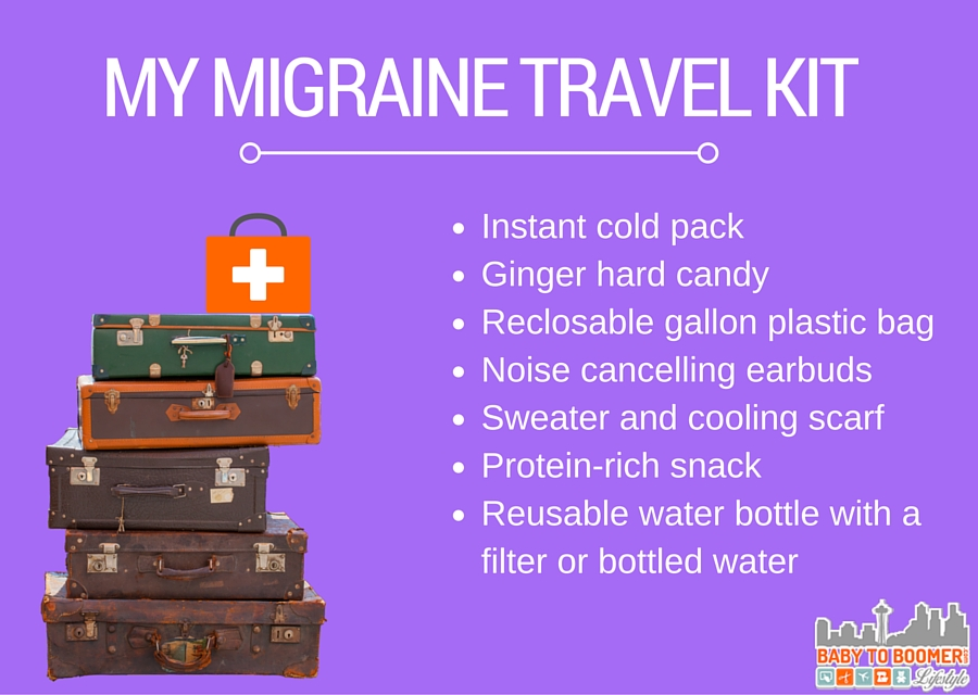 My Migraine Comfort Travel Kit #MoreToMigraine  #ad