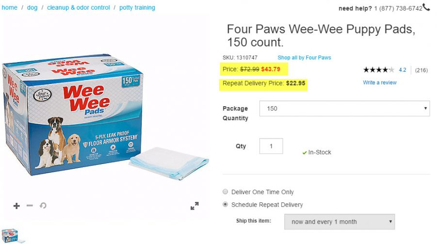Puppy Wee Wee Pads - I got major savings! #PetcoDelivers #ad